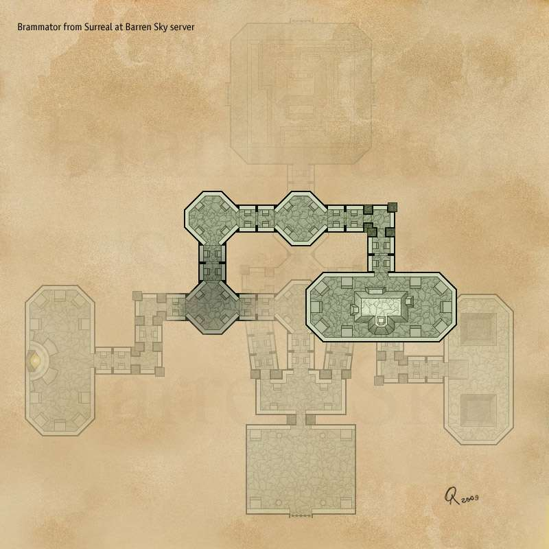 EQ2MAP - Ykesha\'s Inner Stronghold - (Upper Floor)